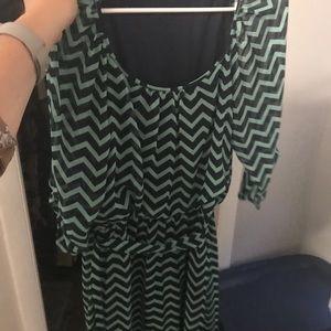Dresses & Skirts - Chevron medium length women's dress